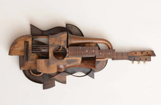 A piece of postmodern guitar art