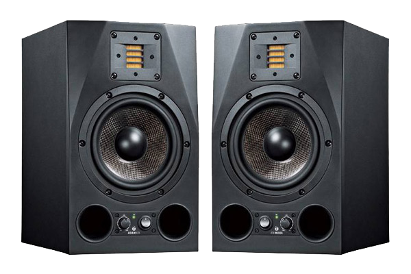 A pair of Adam A7X speakers